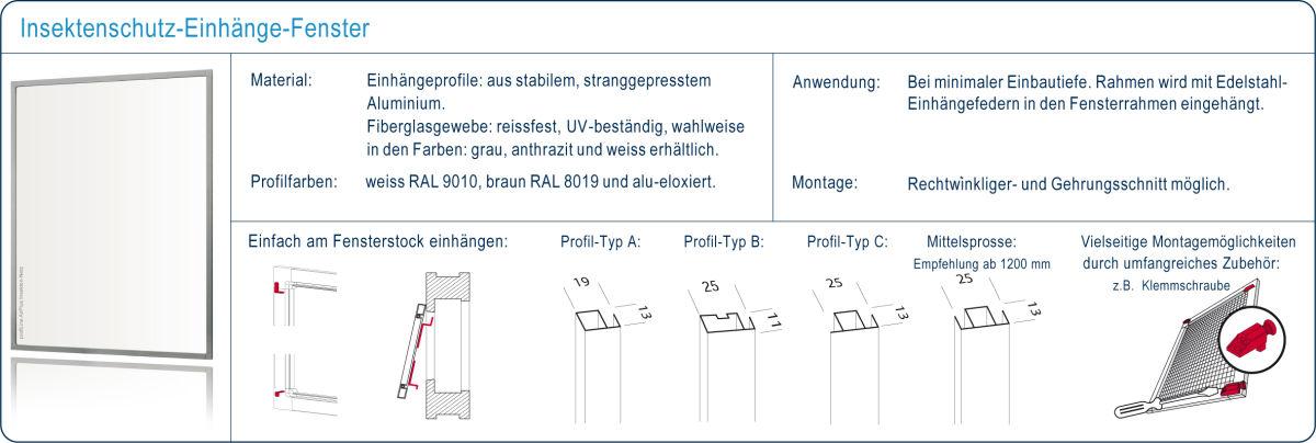Einhänge-Rahmen für Fenster Mückengitter - profiLine Windhager AG